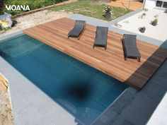 Sliding deck to cover pool when not in use