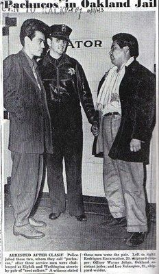 zoot suit old pictures | pachucos in oakland jail 1943 after fighting with sailors in old ...