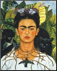 Frida Kahlo changed the art history in a way that she put her own dreams in her artworks. As an artist Frida Kahlo symbolism Diego Rivera, Frida Kahlo Portraits, Frida Kahlo Artwork, Frida Kahlo Prints, Famous Portraits, Paintings Famous, Famous Artists, Frida Art, Collaborative Art