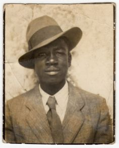 african american man dressed to the nines 1940s Photo Booth pic