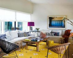 Colorful shabby-chic style infused into beach refuge