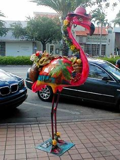 My Flamingo stands in Coral Gables, FL. Her name is Florinda. A reminder that I would like to do more public art!