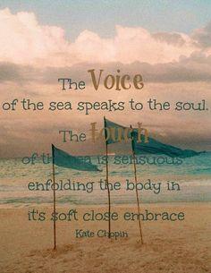 Sea quote via Living Life at www.Facebook.com/LivingLife2TheFull