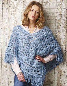 Womens Cluster stitch Poncho crochet pattern