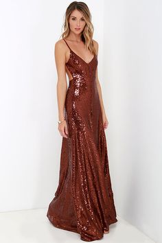 DIBS OF SPARKLES! love, SD - Charismatic Spark Wine Red Sequin Maxi Dress at Lulus.com!