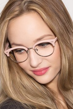Pink round eyeglasses available in variety of colors to match any outfit. These stylish full-rim, medium sized plastic eyeglasses include free single-vision prescription lenses, a case and a cleaning cloth. Cheap Eyeglasses, Pink Eyeglasses, Eyeglasses For Women, Eyeglasses 2017, Round Lens Sunglasses, Cute Sunglasses, Sunglasses Women, Vintage Sunglasses, Fake Glasses