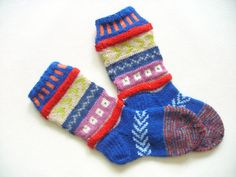 Hand Knit Wool Socks Colorful for Women  Size by Billeshop on Etsy, $30.00