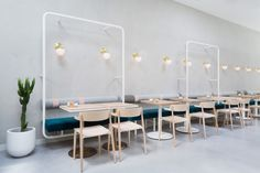 With a strong relationship between the interior design and the brand image, Biasol studio designed a café in Melbourne inspired by Greek delicatessens that flourished in the