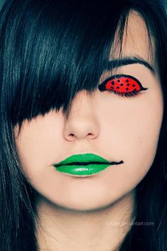 colorful real people | ... color,accent,colorful,girl,make,up,real,people