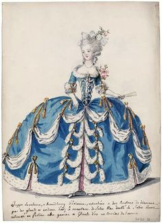 Court dress in 1785, France