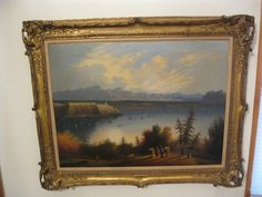 Edmund Coates(1815-1861) is a well known American Hudson River School artist. This is a large oil painting, framed and signed. It's in good general condition. All these paintings are for sale, I was a long time collector and now sell on ebay as connecticutskier.  I have perfect feedback.  Every painting is satisfaction guaranteed.  I'm a licensed dealer in CT and sell around the world.  Contact me at usafineart@gmail.com  I also give my receipts  No one else does this.  Richard Michael.