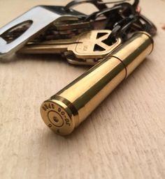 BRZN Recycled 45 Colt 30-06 Bullet Casing Keyfob / Keychain