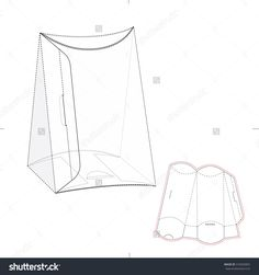 Pillow Triangular Retail Box With Die Line Template Stock Vector Illustration 310303802 : Shutterstock