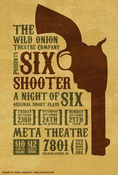 Fun type driven western poster