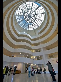 ✯ Guggenheim Museum, New York City, New York.  The Solomon R. Guggenheim Museum is a well-known art museum located on the Upper East Side of Manhattan in New York City.  Designed by Frank Lloyd Wright, who was also a Founder, along with Solomon R. and Peggy Guggenheim.