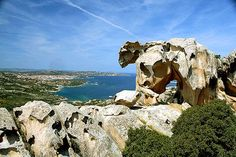 A group of suggestive granite islands in the most beautiful Mediterranean Sea: Archipelago of La Maddalena and Lavezzi. Beaches, rocks in different shapes.