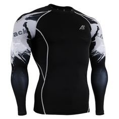 Mens Compression Shirts Skin Tight Thermal under Long Sleeves Jerseys Rashguard MMA Crossfit Exercise Workout Fitness Sportswear