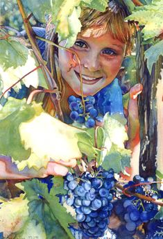 Jeannie Vodden - water-color portraitist!