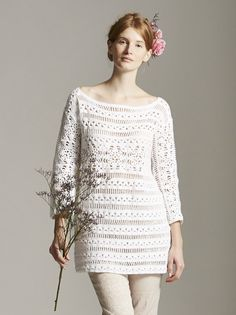 This lovely top called Lupin was crocheted for Marie Wallin and is in her new book 'Filigree'. http://www.mariewallin.com/filigree.html