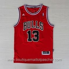 maillot nba pas cher Chicago Bulls Noah 13 Rouge nouveaux tissu 22,99€