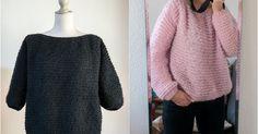 Pull Didi&Catcat Knitting Patterns Free, Free Knitting, Crochet Backpack, Mohair Sweater, Winter Sweaters, Knit Crochet, Diy, Bandeau, Stitches
