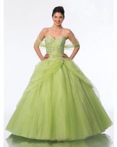Lemon Green Quince Dress - Don't you love the color, very unique - Quinceanera Dresses
