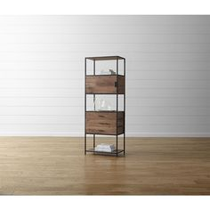 Crate & Barrel Knox Tall Storage Bookcase ($1,299) ❤ liked on Polyvore featuring home, furniture, storage & shelves, bookcases, door shelf, storage bookcase, storage shelves, home storage furniture and book-shelves