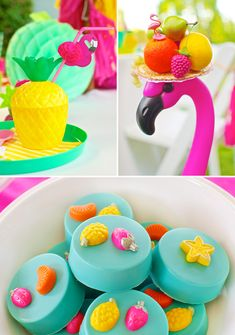 Colorful Fruity Flamingo End of Summer Party