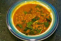 Lentil and Chard Soup #MeatlessMonday