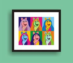 Hey, I found this really awesome Etsy listing at https://www.etsy.com/listing/170067293/miss-piggy-pop-art-original-print-by-c
