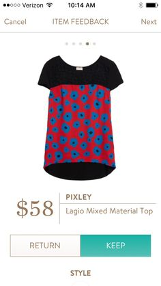 Pixley Lagio Mixed Material Top I love Stitch Fix! Personalized styling service and it's amazing!! Fill out a style profile with sizing and preferences. Then your very own stylist selects 5 pieces to send to you to try out at home. Keep what you love and return what you don't. Try it out using the link! #stitchfix https://www.stitchfix.com/referral/5634870