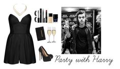"""Party with Harry"" by h4zzafucks ❤ liked on Polyvore featuring Chanel, Givenchy, NARS Cosmetics, Boohoo, BCBGMAXAZRIA, Butter London, Rare London, Natalie B, Dartington Crystal and Giuseppe Zanotti"