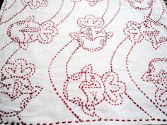 sashiko towel Sashiko Embroidery, Japanese Embroidery, Embroidery Stitches, Running Stitch, Darning, Boro, Hand Quilting, Lace Knitting, Wabi Sabi