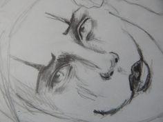 #Face #Sketch #Crow #Cubo