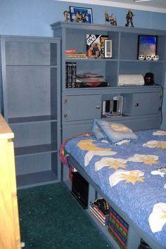 Ana White free wood plans: Full Size Storage Bed