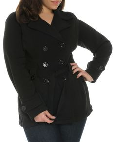 Belted Double Breasted Peacoat | Shop Jr. Plus at Wet Seal