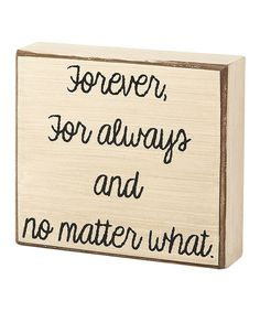 'No Matter What' Box
