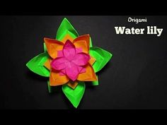 Water Lily - How To Make A Simple Origami Water Lily If you really like this video then don't forget to like it. Check Out My Playlists:: Popular Uploads:- h. Origami Flowers, Paper Flowers, Origami Water Lily, Simple Origami, Diy And Crafts, Arts And Crafts, Paper Folding, Art Classroom, Water Lilies