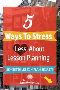 Ways To Stress Less About Lesson Planning The Teaching Cove - Goal Setting Is A Keyelement In Lesson Planning I Simply Have Each Student Fill Out A Goal Setting Document Each Year Even If Its Only A Few Lines Then I Base My Semester Lesson Plans Aroun Parts Of Lesson Plan, Esl Lesson Plans, English Teaching Resources, Teaching Tips, English Teachers, Esl Lessons, English Lessons, Lesson Planner, Teaching Technology