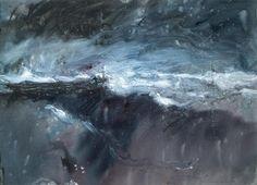 Len Tabner  Love Len's work :) Basic Painting, Painting & Drawing, Seascape Art, Abstract Art, Aberdeen Art Gallery, A Level Art, Sky And Clouds, Landscape Art, Mixed Media Art