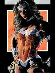 Wonder Woman New 52 by Cam Adams. Wonder Woman Kunst, Wonder Woman Art, Wonder Woman Comic, Wonder Women, Héros Dc Comics, Dc Comics Characters, Dc Comics Girls, Wonder Woman Y Superman, Super Heroine