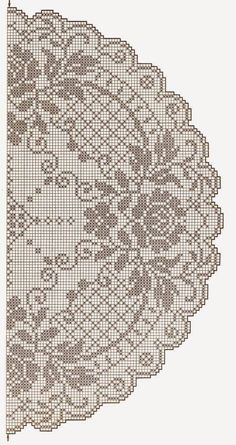 This Pin was discovered by Tat Filet Crochet Charts, Crochet Doily Patterns, Thread Crochet, Crochet Doilies, Crochet Stitches, Knit Crochet, Crochet Table Runner, Crochet Tablecloth, Crochet Round