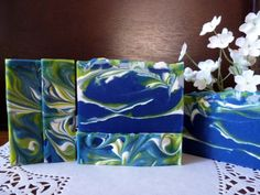 The perfect gift for Seahawk's fans, this soap is designed with our Super Bowl champions in mind ~ a stirring ocean depicting Seahawk colors and the team's high-energy. Made with African Shea butter and sweet almond oil, this bar is a healthy choice for skin care. Shea Butter nourishes the skin with Vitamins A, E and F and is particularly helpful for sun damaged skin. It also helps prevent premature wrinkles and facial lines. Sweet almond oil has amazing emollient qualities, strengthening…
