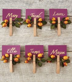 Clothespin Place Cards | JOANN