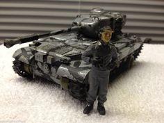 Vintage German Army Tank Model Built Battle Display Item 1 Figure Included #Unknown