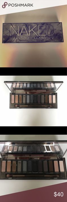 URBAN DECAY NAKED SMOKY EYESHADOW PALETTE This eyeshadow palette has been lightly used. It is great quality and would look great with any eye color. Just trying to reduce my makeup collection and would like this to go to someone who will get good use out of it! Urban Decay Makeup Eyeshadow