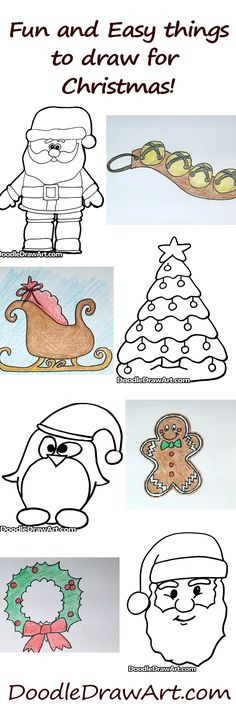 how to draw sleigh kids