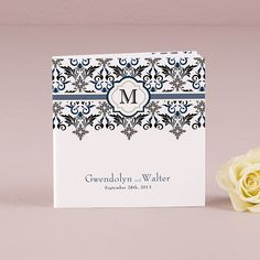 Notepad Favor with Personalized Lavish Monogram Cover - The Knot Shop