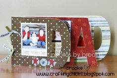 Father's Day Gift Idea–DAD Album, this was so cute and fun to make for a Father's Day gift!