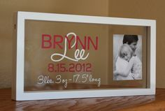 Personalized baby photo name frame